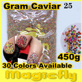 [LYZJ-0016] 450 Gramos de Caviar Beads Nail Art Tiny Circle Bolas Nail Art Decoration 3D Caviar Nail Art