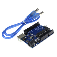 Free Shipping UNO R3 For Arduino MEGA328P 100 Original ATMEGA16U2 With USB Cable