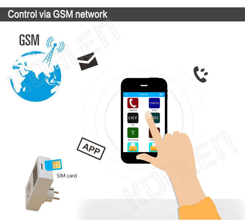 16A GSM socket remote control switch 2