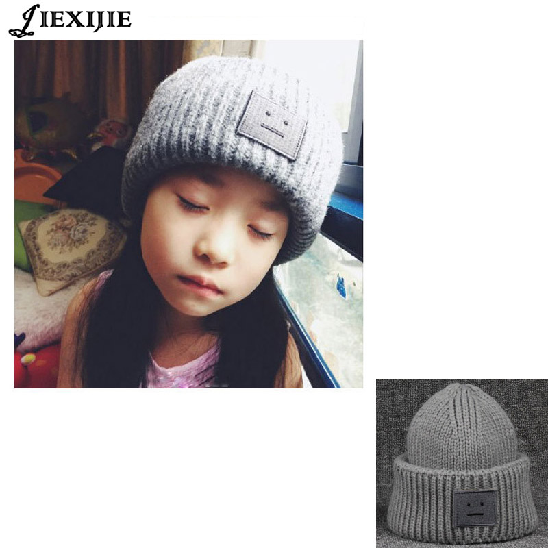 все цены на The high quality winter Unisex beanie  wool Knitted Hat  Beanies Cap Casual Solid Color Sets  hat skullies Children's hat онлайн
