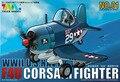 Tigre modelo Q versão avião bonito kits 101 combate da segunda guerra mundial eua F4U aviões de caça piratas assembléia modelo kits