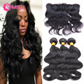 Ali Julia Indian Virgin Hair Body Wave 3pc Indian Remy Hair with Closure 13x4 Ear to Ear Lace Frontal with Baby Hair and Bundles