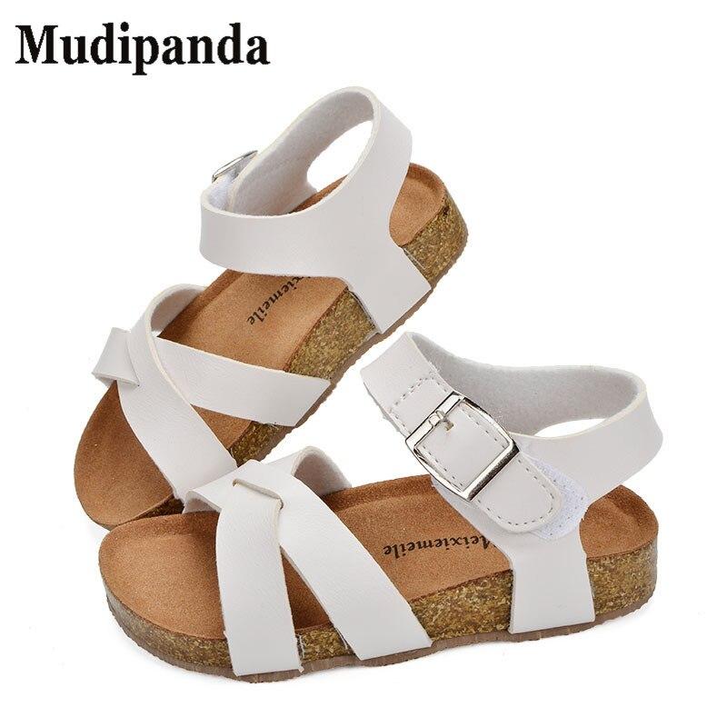 Mudipanda Boys Girls Beach Shoes 2018 New Roman Sandals Girl Boy  School Sandals Shoes For Children Gladiator Glitter