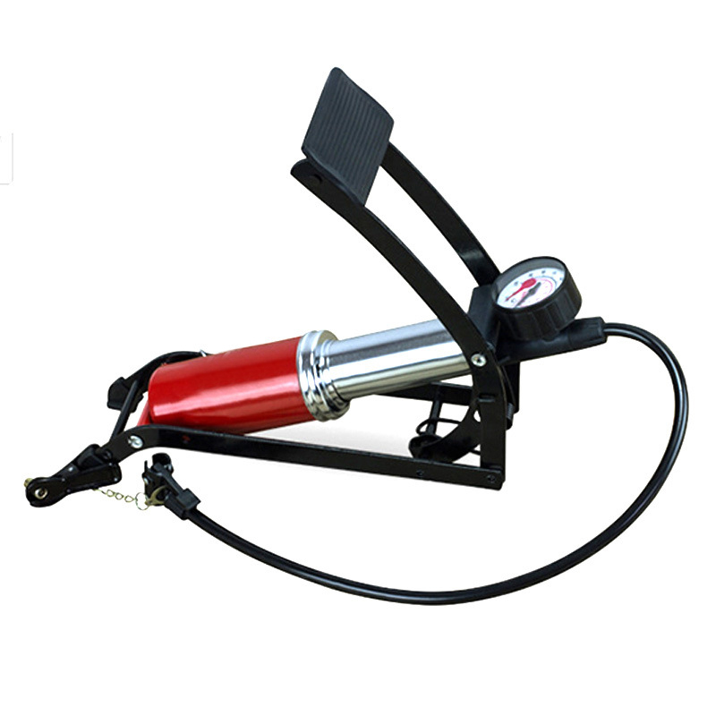 Pression Monocylindre Pied Portable Pompe À Vélo Vélo Ballon De Football Gonfleur