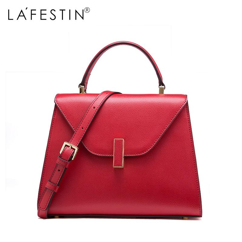LAFESTIN Brand Women Handbag Versatile Leather Shoulder Bag Luxury Designer Multifunction Brands Crossbody Bag Bolsa туники сарафаны mia mia туника пляжная catalonia цвет красный xl