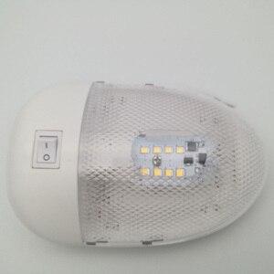Image 1 - 1 шт. 2 Вт 8LED яхта RV потолочный купол свет RV Внутреннее освещение 12В DC прочная белая осветительная лампа
