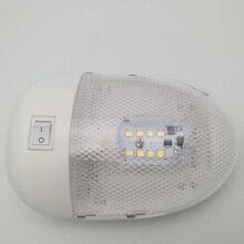 1 pz 2 w 8LED Yacht RV Soffitto Luce di Cupola CAMPER Interni di Illuminazione 12 v DC Durevole Bianco Lampada Illuminante