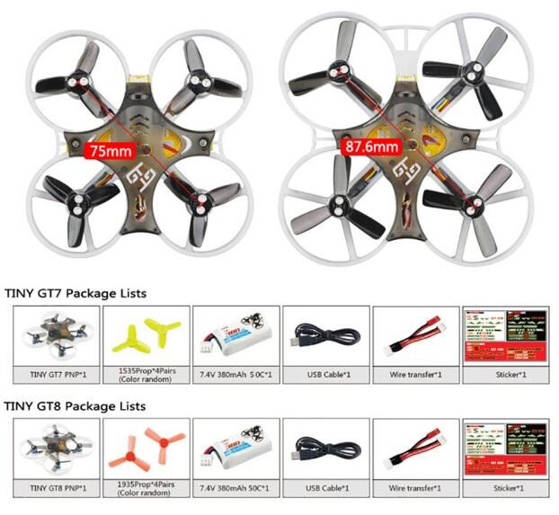 KINGKONG/LDARC TINY GT7 75mm /GT8 8.76cm Mini FPV RC Racing Drone Betaflight F3 10A Blheli_S 800TVL Cam 5.8G 25mW VTX 2S PNP BNF kingkong ldarc tiny 8x 85mm mini fpv quadcopter with 8520 motors 5 8g 800tvl camera f3 flight controller vs tiny 6x 7