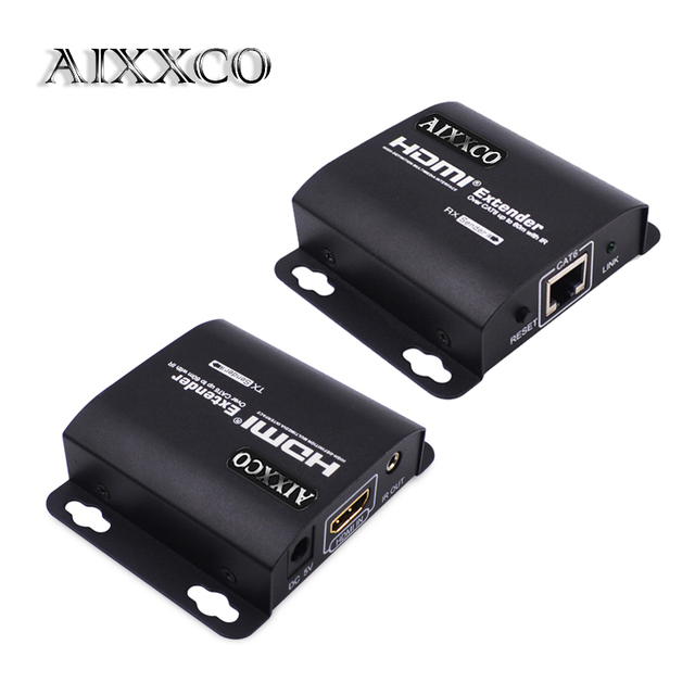 Aixxco hdmi extender 60m hdmi repeater with ir remote 1080p hdmi aixxco hdmi extender 60m hdmi repeater with ir remote 1080p hdmi ethernet network extender over single sciox Images