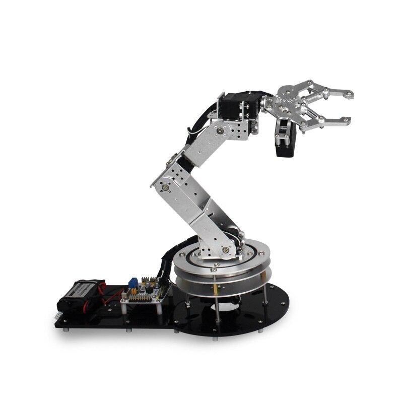 Robot industriel 550 Mécanique Bras 100% Alliage Manipulateur 6 Degrés Robot bras Rack avec 6 Pcs LD-1501MG Servos + 1 Alliage pince