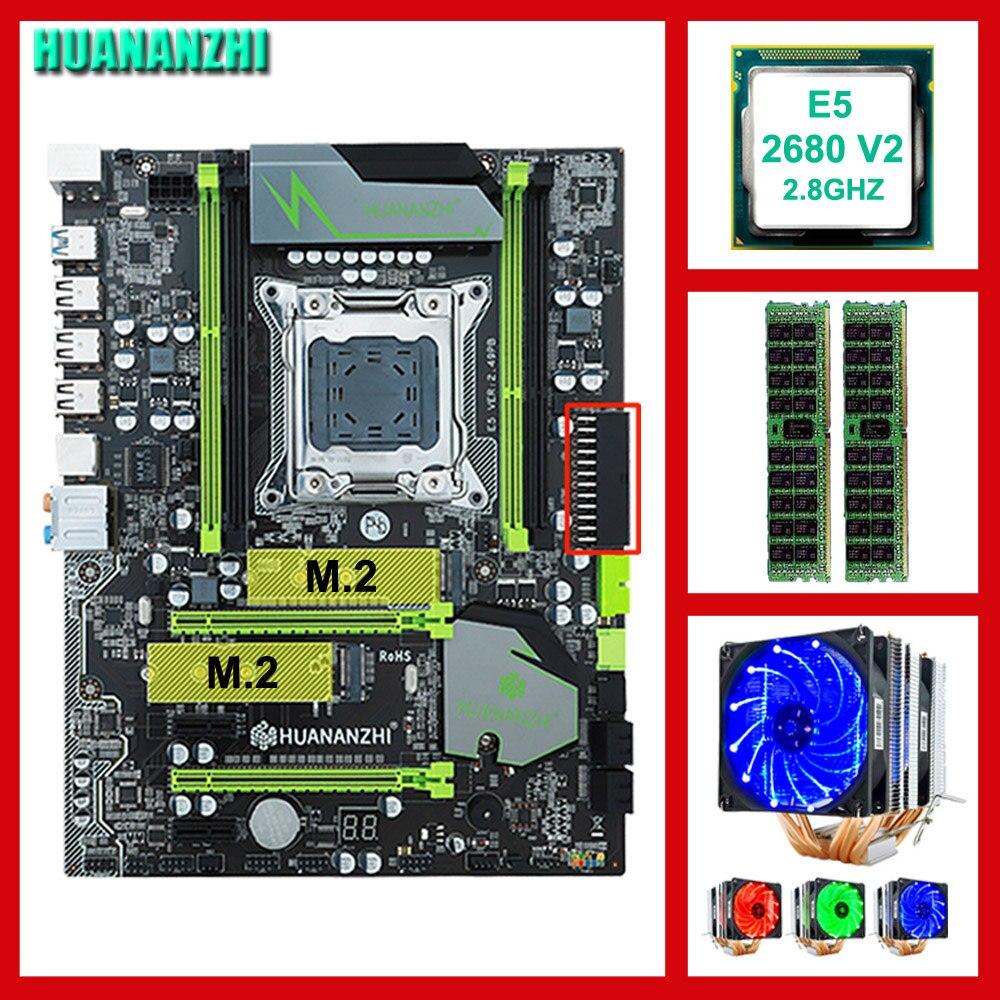 Scheda madre di marca in vendita HUANANZHI X79 Pro scheda madre con DUAL M.2 slot CPU Intel Xeon E5 2680 V2 con dispositivo di raffreddamento RAM 32G (2*16G)Scheda madre di marca in vendita HUANANZHI X79 Pro scheda madre con DUAL M.2 slot CPU Intel Xeon E5 2680 V2 con dispositivo di raffreddamento RAM 32G (2*16G)