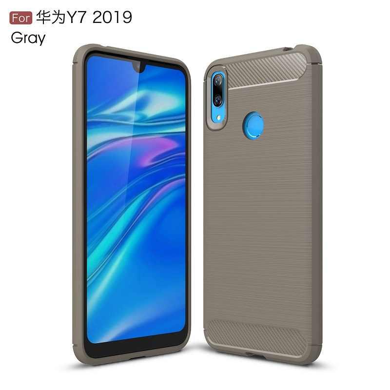 Чехлы для мобильных телефонов для huawei Y7 2019 углеродного волокна heavy duty чехол для huawei Nova4 задняя крышка DHL Бесплатная доставка 100 шт