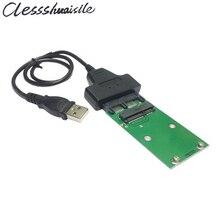 """USb 2.0 для Mini PCI-E mSATA SSD в 1.8 """"Микро-sata 7 + 9 16pin Адаптер Добавить на Карты PCBA для SSD Жесткий Диск"""