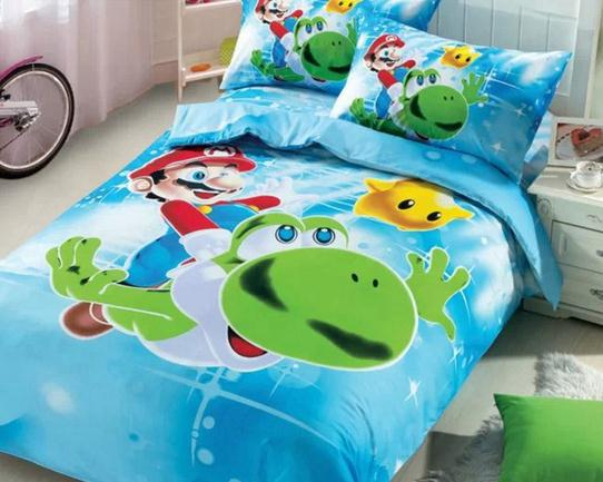 Hot Sell Super Mario Bedding Set Girls Twin Full Size