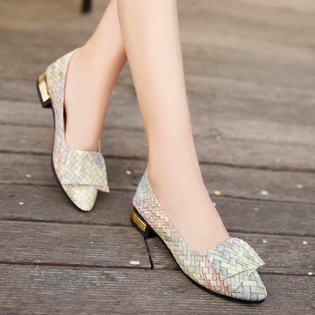 Phụ Nữ Cô Gái Xuân Hỗn Hợp Màu Sắc Giày Nữ Xinh Xắn Phẳng Giày Dép Nữ Casual, Mùa Hè Giày Sandal Nữ