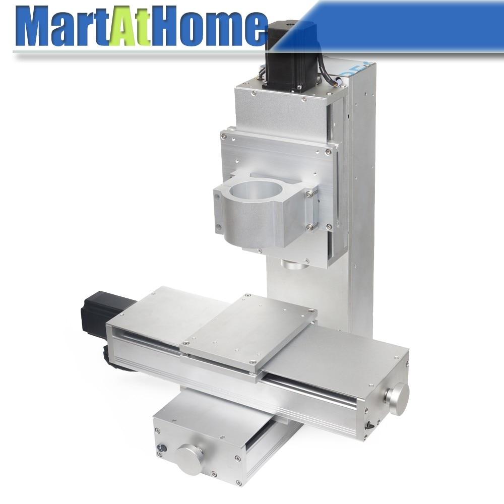 Industrial CNC XYZ Marco de máquina de 3 ejes Sistema de mesa de guía de riel deslizante lineal Carrera 250 * 150 * 100MM con motores, tornillos de bola y varillas