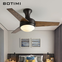 BOTIMI практичный светодиодный потолочный вентилятор для низкого потолка современный вентилятор огни дистанционного охлаждения потолочные вентиляторы Внутреннее освещение вентилятор набор ламп