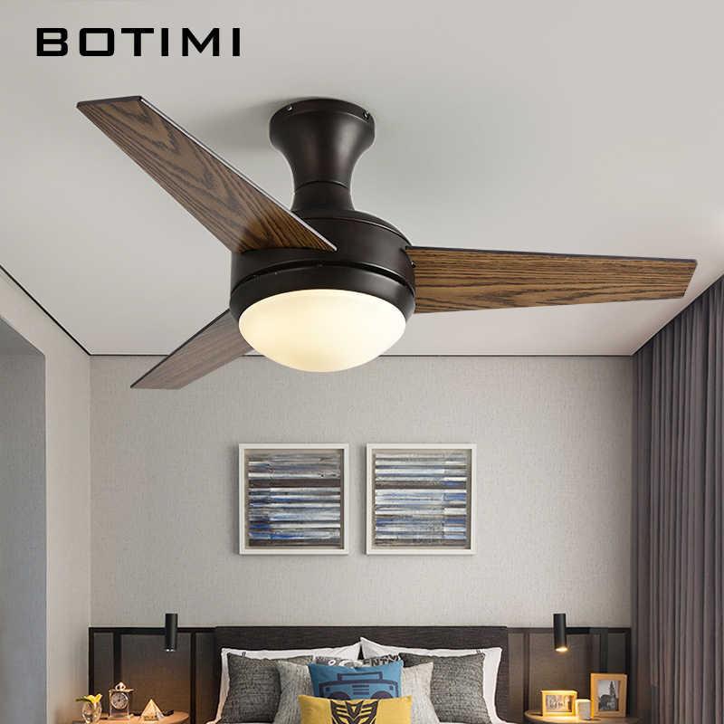 BOTIMI практичный светодиодный потолочный вентилятор для низких потолков современный вентилятор с дистанционным охлаждением потолочные вентиляторы для внутреннего освещения набор ламп