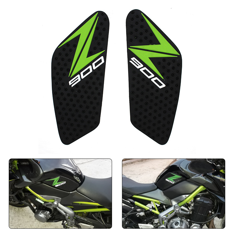JMCRider For <font><b>Kawasaki</b></font> Z900 <font><b>Z</b></font> <font><b>900</b></font> ZR900B 2017 <font><b>Motorcycle</b></font> Anti slip Tank Pad 3M Side Gas Knee Grip Traction Pads Protector Sticker image