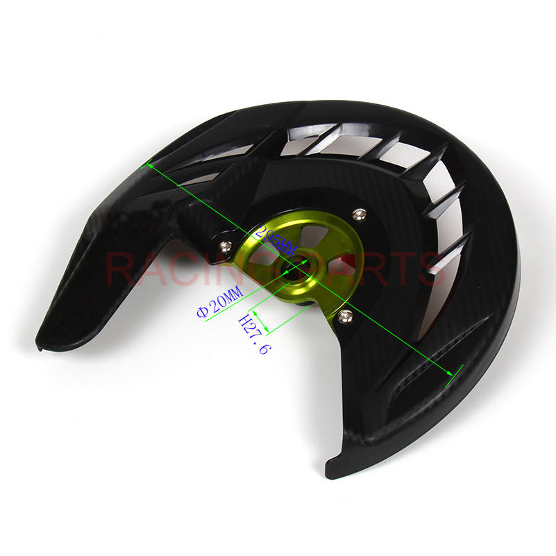 Free shipping CNC Billet Front Brake Disc Cover Protector Plastic Rotor Guard For KX250F KX450F 2006 2015 DIRT BIKE