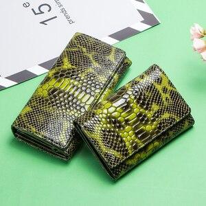 Image 5 - Monedero con diseño de serpiente a la moda para mujer, billetera larga de cuero genuino para mujer, monederos para teléfono para niña, tarjetero, bolso de mano tipo monedero