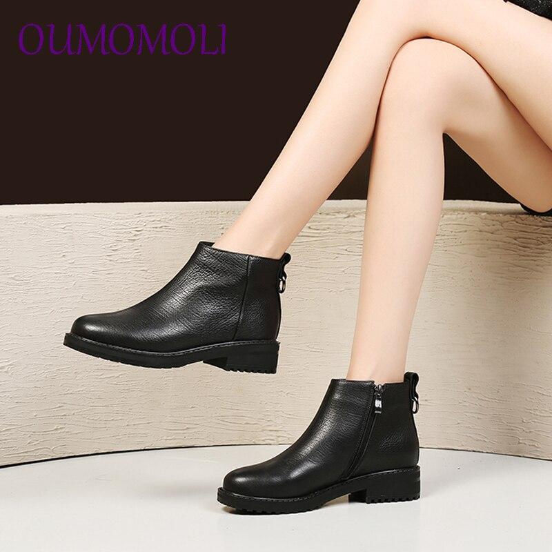 933051e37ef5 Femme 2019 D hiver La Plat Chaussures Casual Mode De Nouvelle Bottes Femmes  Confortable Cheville Véritable Cuir ...