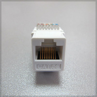 RJ45 Connector CAT5e Network Module Tool free Information Socket Cable Adapter Keystone Jack for Amp Compute