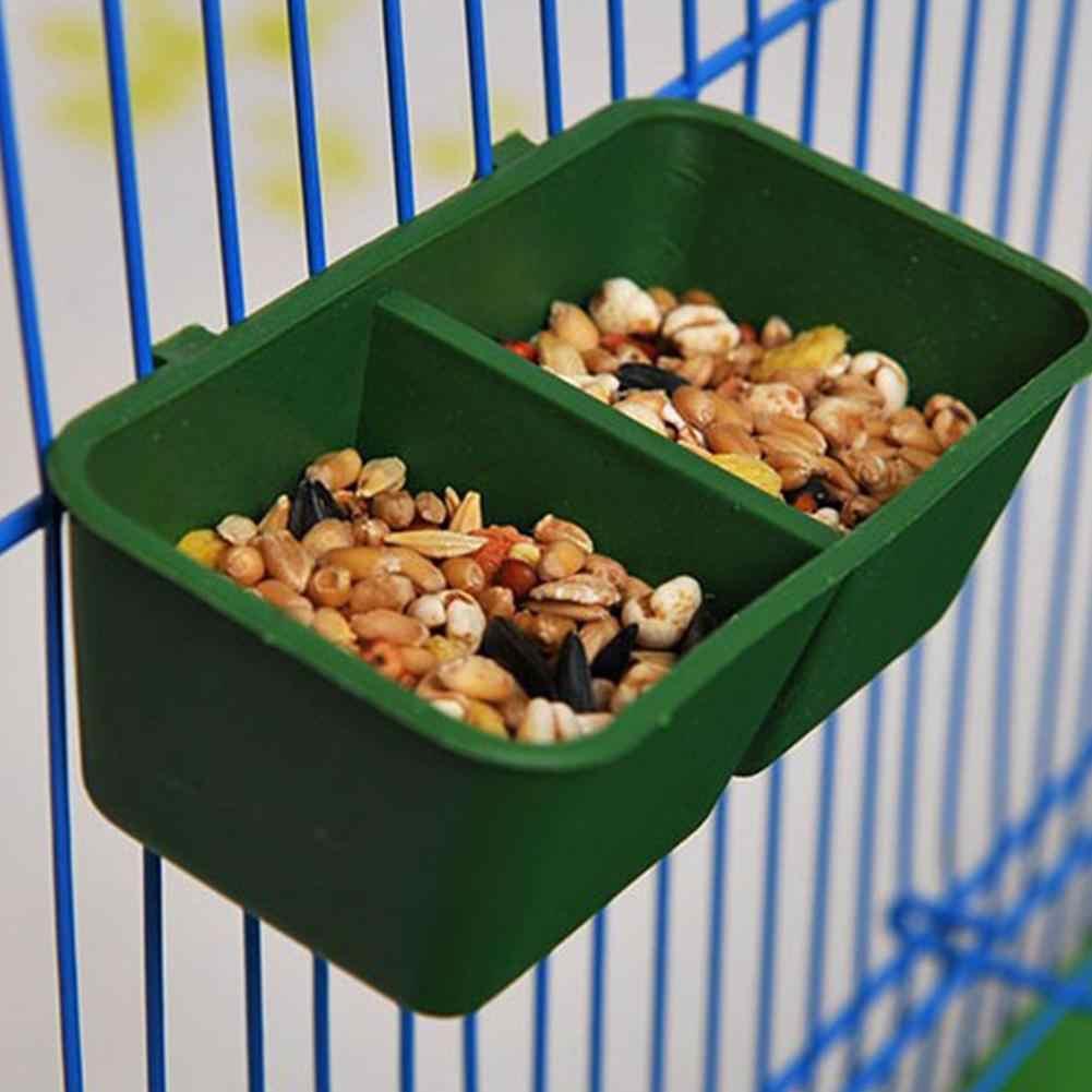 6 шт. кормушка-кормушка для птиц, двойной отсек, пластиковая кроватка, попугай, хомяк, миска для еды, чаша для кормления птиц миска кормушки-поилки