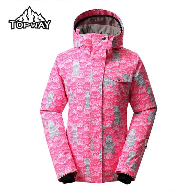 6fbeb85bdd Hot Sale Female Water Resistant Windbreaker Jaqueta Feminina Snow Coat Hard- Wearing Chaquetas Mujer Winter Outdoors Women Jacket