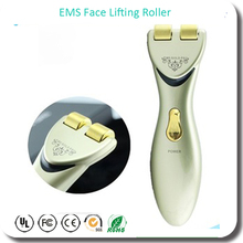 Hot Sell In Japan 24K Gold Plated EMS Microcurrent Face Lift Up Face Mask Lifting Massager Roller Beauty Stick