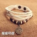 version of the popular fashion handmade leather bracelet bracelet DIY optional ladies men's Bracelet