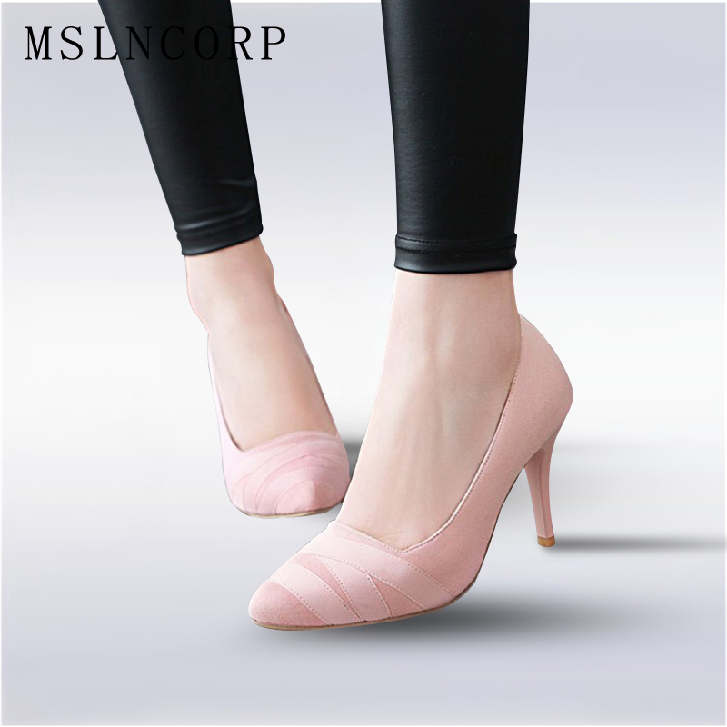 Size 34-43 elegant prom Women Pumps Pointed Toe Slip on High Heels nightclub Party Shoes Ladies Fashion Thin Heel Zapatos Mujer rizabina vintage spring women wedge pumps elegant slip on high heels shoes pointed toe ladies zapatos mujer shoes size 33 43