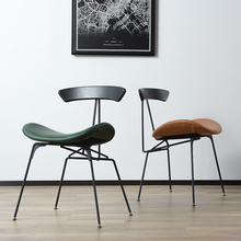 Nordic INS Industrial Wind iron restaurant applicable to dining chair office meeting retro chair leisure home home study bedroom