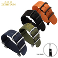 Nylon watch strap solid stainless steel linker waterproof watchband sport wrist 24mm for for SUUNTO CORE  watch band