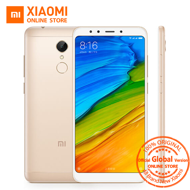 "Global Version Xiaomi Redmi 5  5.7"" Full Display 2GB 16GB Snapdragon 450 Octa Core 12MP Camera 3300mAh Metal Body Smartphone"
