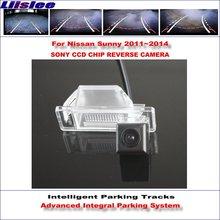 Liislee Backup Rear Reverse Camera For Nissan Sunny 2011~2014 / HD 860 * 576 Pixels 580 TV Lines Intelligent Parking Tracks