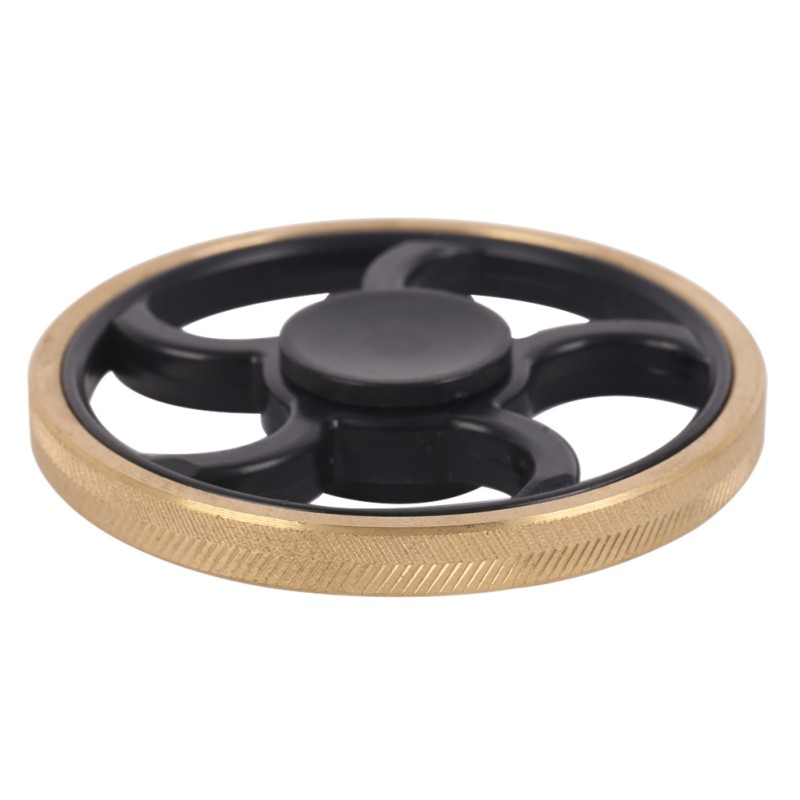 Round Hand Spinner Fidget Toy Plastic EDC Fingertips Gyro For Autism and ADHD Anxiety Stress Relief Focus Toys Gifts new style edc round three corner camouflage hand spinner for autism and adhd anxiety stress relief focus toys