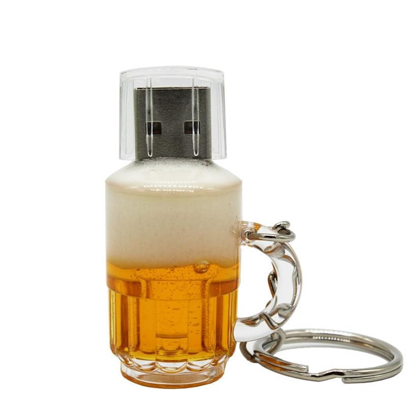 Real Capacity Beer Cup Usb 2.0 4G 8G 16G Pen Drive 32G Memory Creative Usb Flash Drive Gift Usb Stick