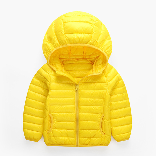 Boys and Girls down short windproof coat children fashion white goose down jacket winter thickening kids hood clothes outerwear