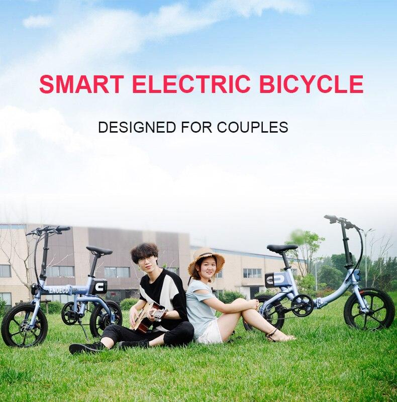 HTB1t Ofac vK1Rjy0Foq6xIxVXaQ - 16inch electric bicycle  fold Urban lightweight couple electric mobility bicycle Princess power bicycle 36V 250W  Ebike