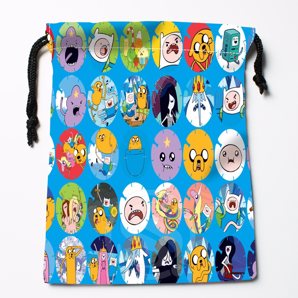 Fl-Q148 New Adventure Time &9 Custom Printed  Receive Bag  Bag Compression Type Drawstring Bags Size 18X22cm 711-#Fl148