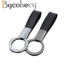 Bycobecy Alloy Genuine Leather Smart Key Holder Men Women Keychain Fashion Organizer Solid New Car Case Wallets