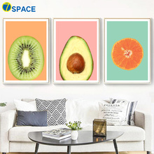 Orange Kiwi Avocado Wall Art Canvas Painting Nordic Posters And Prints Poster Pictures For Living Room Kitchen Decor