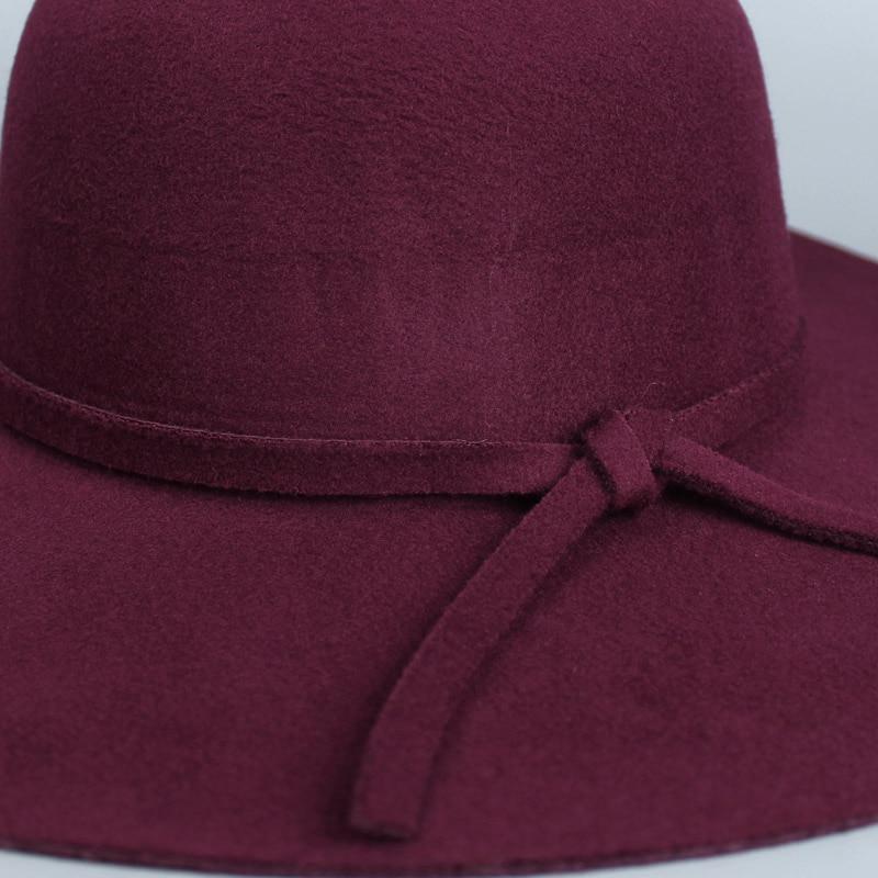 Women s Fedoras Round Church Caps Hats Top Imitation Wool Felt Hat Fedora  Man s Wide Brim Hat Sombrero Cowboy Vaquero Party Hats-in Fedoras from  Women s ... fb7c656bf629