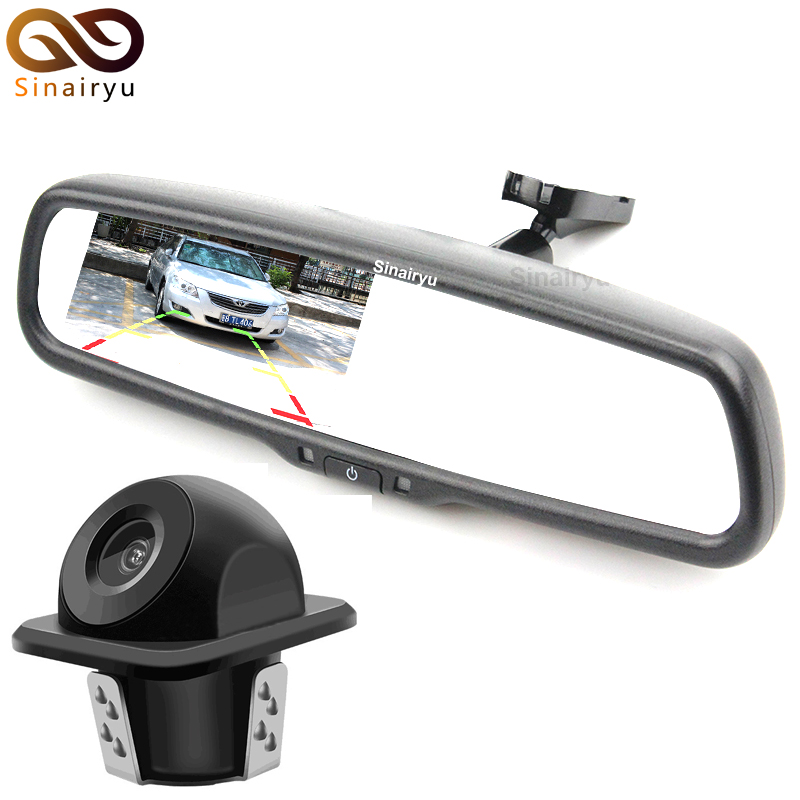 Parking Assistance System Car Windscreen Rear View Mirror Car Bracket Monitor with Car Rearview BackUp Reverse Parking Camera 3in1 diy for hyundai elantra gt wireless wifi bluetooth backup rear view reverse rearview parking camera camara