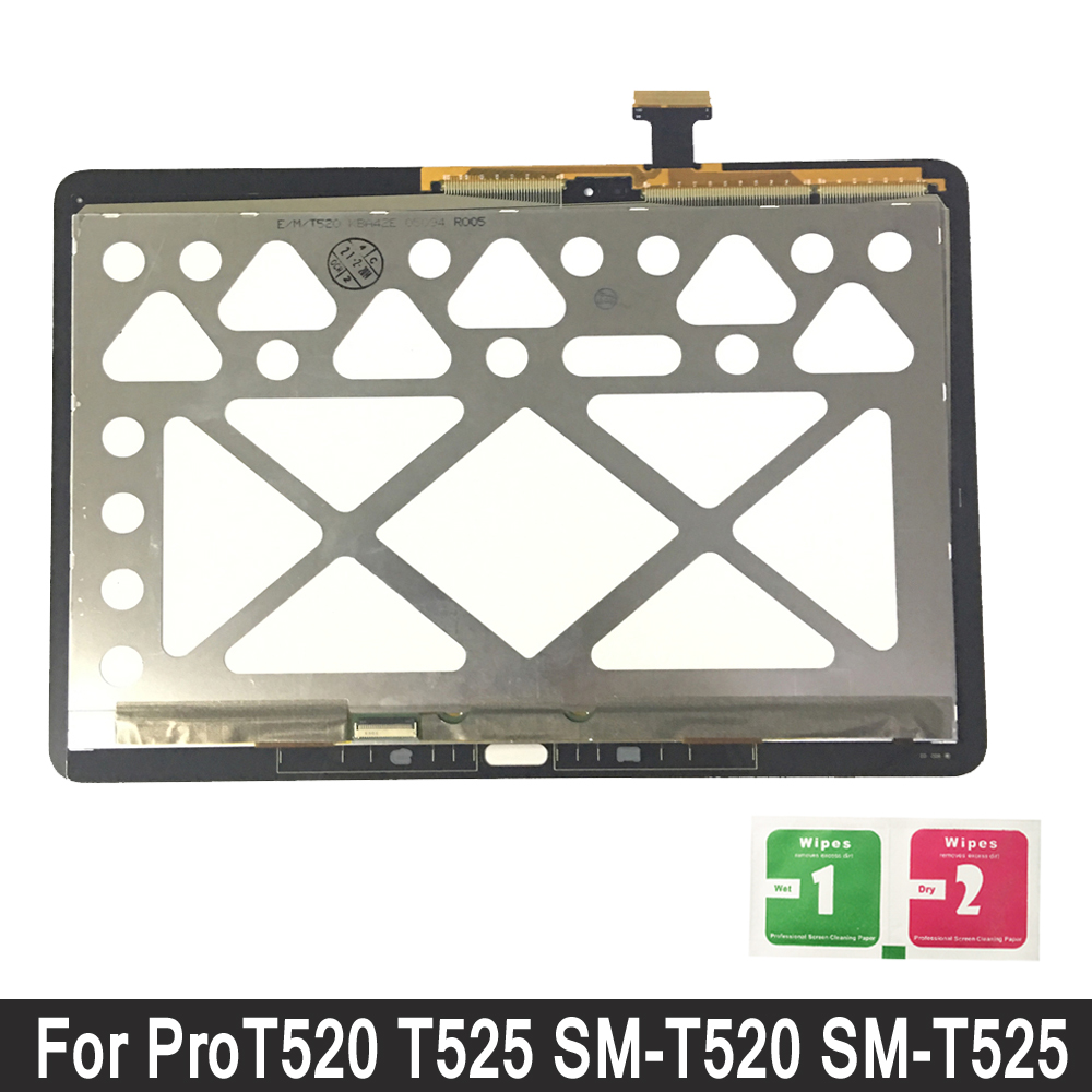 Display Per Samsung Galaxy Tab Pro 10.1 T520 T525 SM-T520 SM-T525 LCD Touch Screen Digitizer Sensori Pieno del Pannello di MontaggioDisplay Per Samsung Galaxy Tab Pro 10.1 T520 T525 SM-T520 SM-T525 LCD Touch Screen Digitizer Sensori Pieno del Pannello di Montaggio