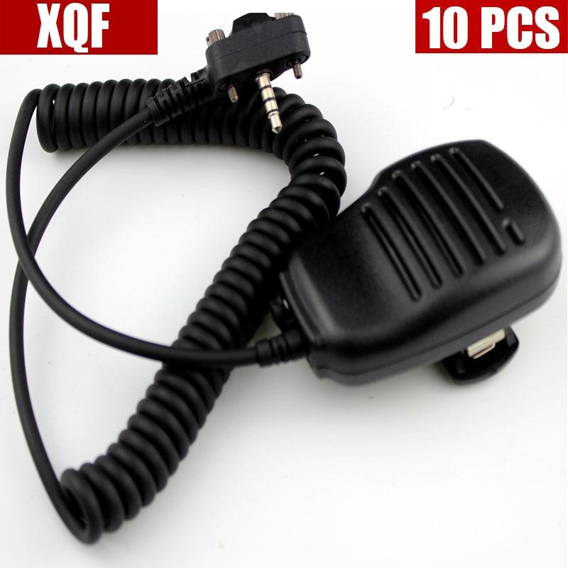 10 шт. плеча Динамик микрофон для Vertex Стандартный VX210 VX228 VX230 VX298 VX300 VX350 VX351 VX354 VX400 VX410 двухстороннее радио-in Рация from Мобильные телефоны и телекоммуникации