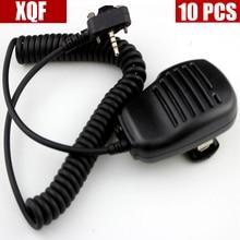 10Pcs Schouder Speaker Microfoon Voor Vertex Standaard VX210 VX228 VX230 VX298 VX300 VX350 VX351 VX354 VX400 VX410 Twee Manier radio