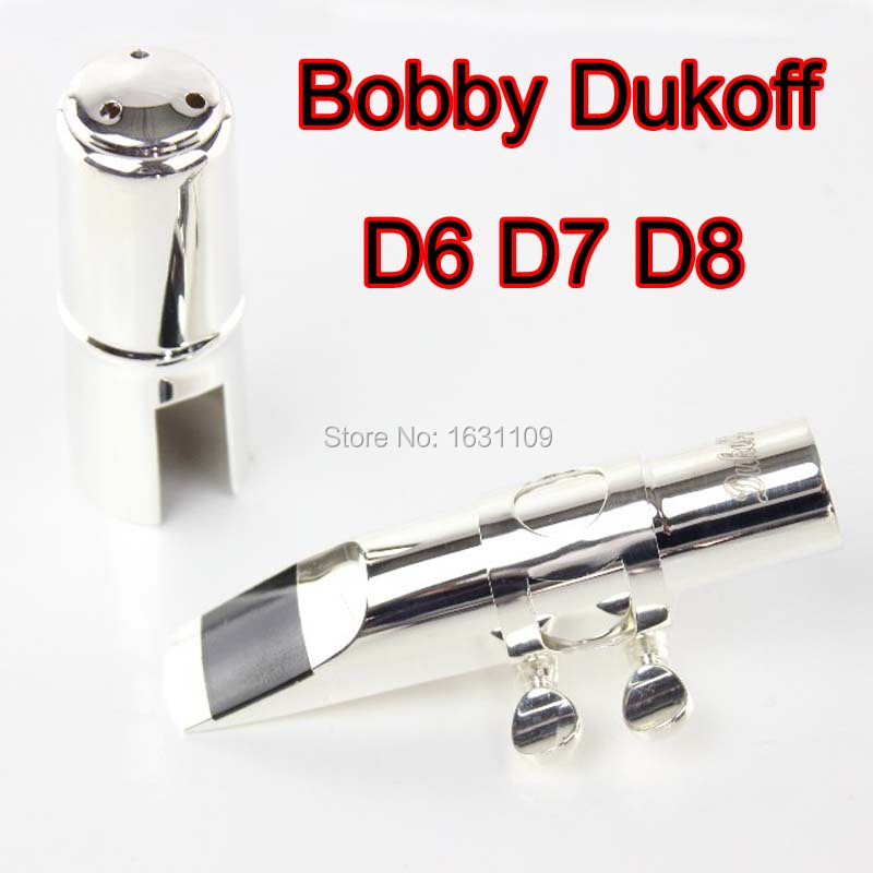 Brand New Bobby Dukoff Metal Alto Saxophone Mouthpiece D6 D7 D8 Gold Silver Soprano Alto