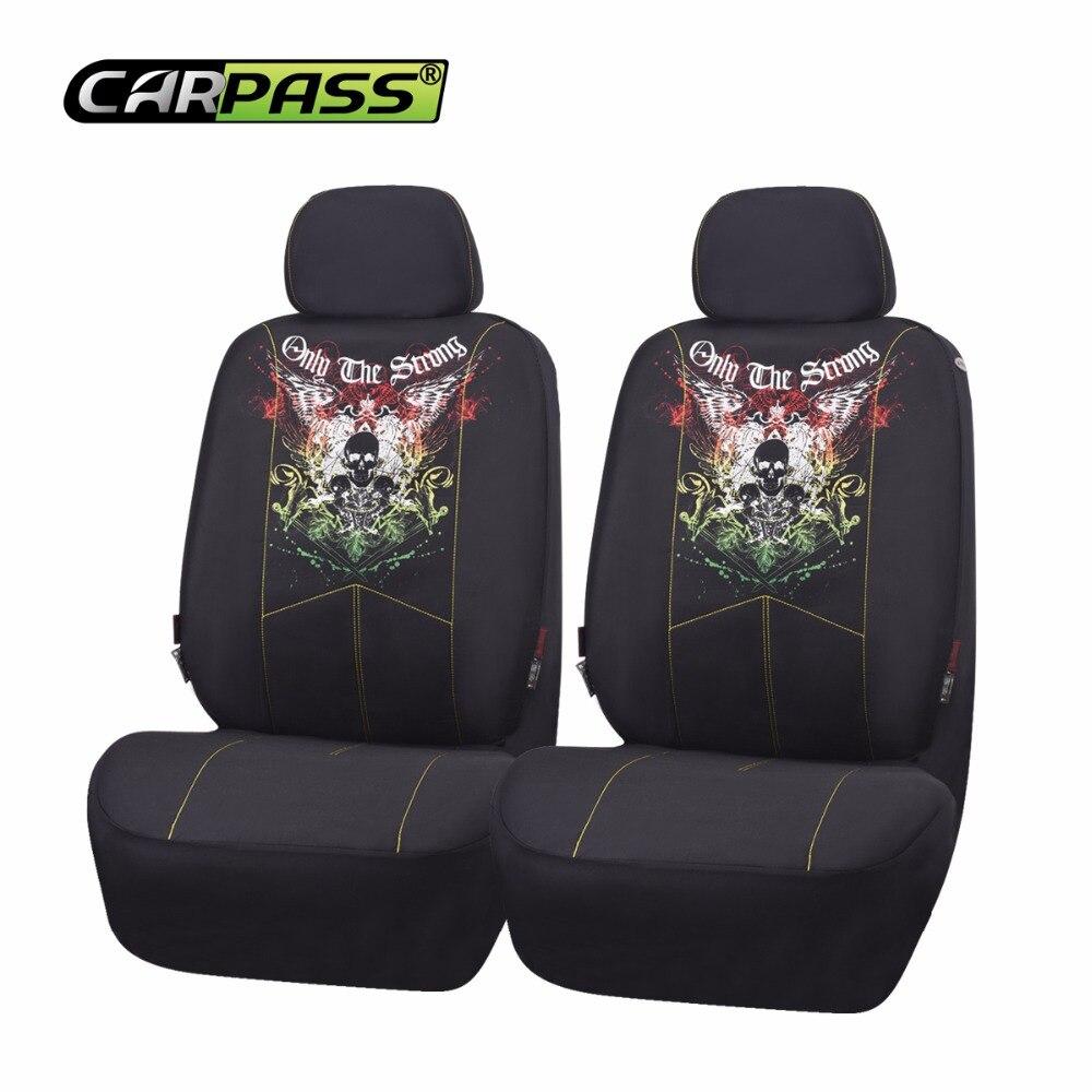 Car Pass 2017 Scorpion Skull Design Hot Seat Covers Mesh Fabric Auto Interior Styling